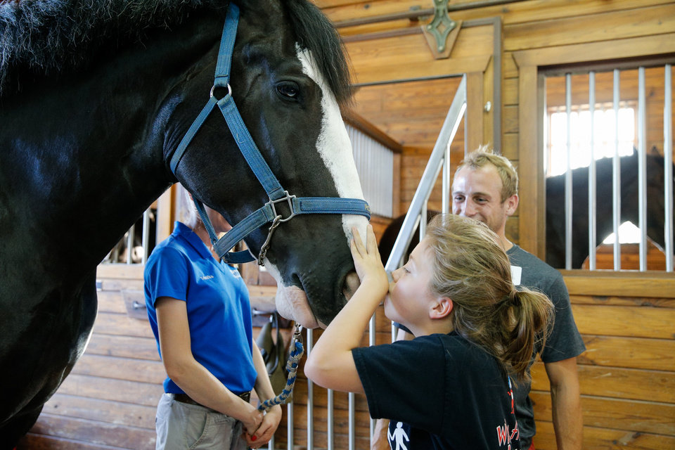 Photo - Kyle Hyland and Emma during their Sidekicks outing at the Express Clydesdale Ranch. Photo courtesy of Prodigal LLC.