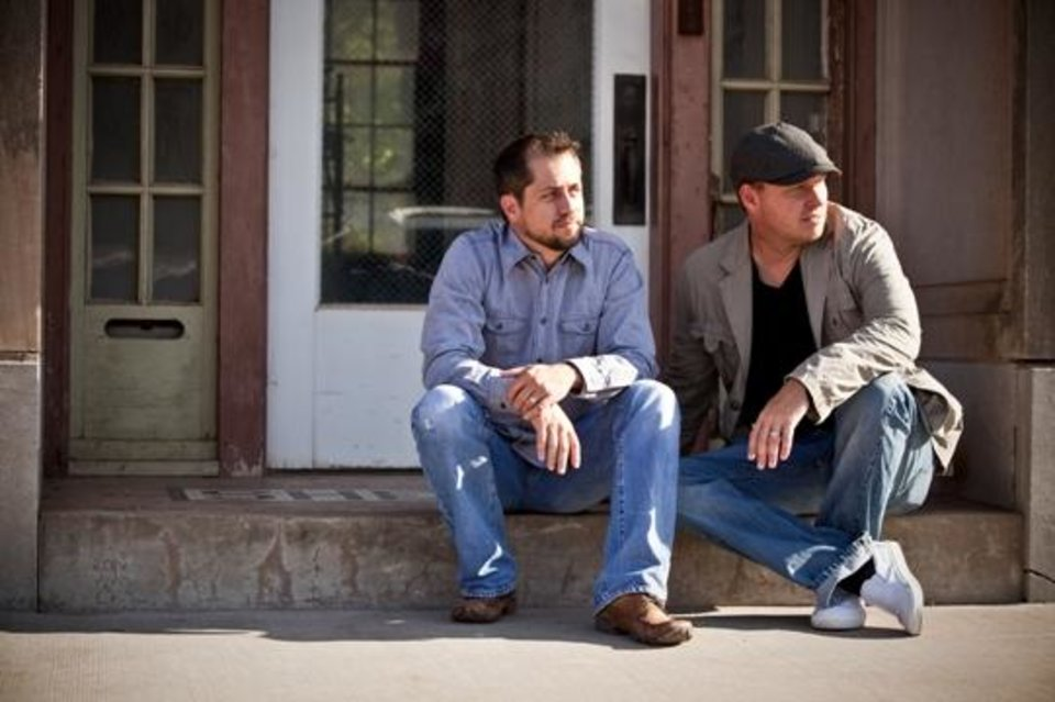"Edmond filmmakers Casey Twenter, left, and Jeff Robison are the writers and producers of the Oklahoma-made musical drama ""Rudderless."""