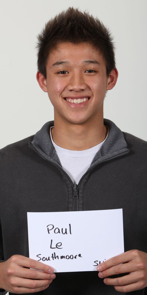 Photo - WINTER HIGH SCHOOL SPORTS: Mug shot of Paul Le, a swimmer at Southmoore High School. Photographed on Tuesday, Nov. 18, 2009. By John Clanton, The Oklahoman ORG XMIT: KOD