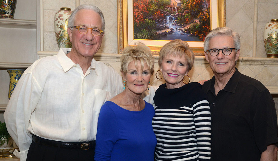 Photo - Bob and Cindy Barnard, Darlene and Larry Parman. Photo by David Faytinger, for The Oklahoman