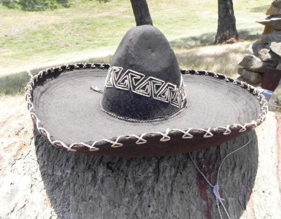 Photo - Antonio Esqivel's ornate sombrero, worn in Buffalo Bill's Wild West Show and the 101 Ranch Wild West Show will be auctioned.   - PROVIDED BY ARBUCKLE WILDERNESS