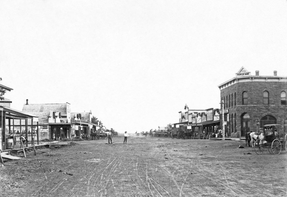 "Built in 1893, the building on the right was the ""first two-story, first masonry structure"" in Oklahoma County. It is the oldest commercial building in Oklahoma County and now houses several contemporary businesses. <strong> - Photo Provided</strong>"