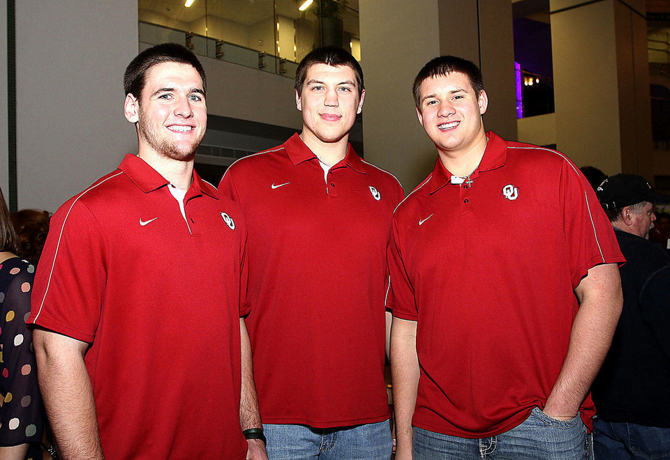 Photo - Connor Knight, Derek Farniok, Kyle Marrs. Photo by David Faytinger for The Oklahoman__