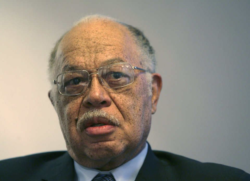 In this March 8, 2010 photo, Dr. Kermit Gosnell is seen during an interview with the Philadelphia Daily News at his attorney's office in Philadelphia. Gosnell, an abortion doctor who catered to minorities, immigrants and poor women at the Women's Medical Society, goes on trial Monday, March 18, 2013, on eight counts of murder, but prosecutors say he's not the only person to blame for the deaths. (AP Photo/Philadelphia Daily News, Yong Kim) MANDATORY CREDIT, NO SALES
