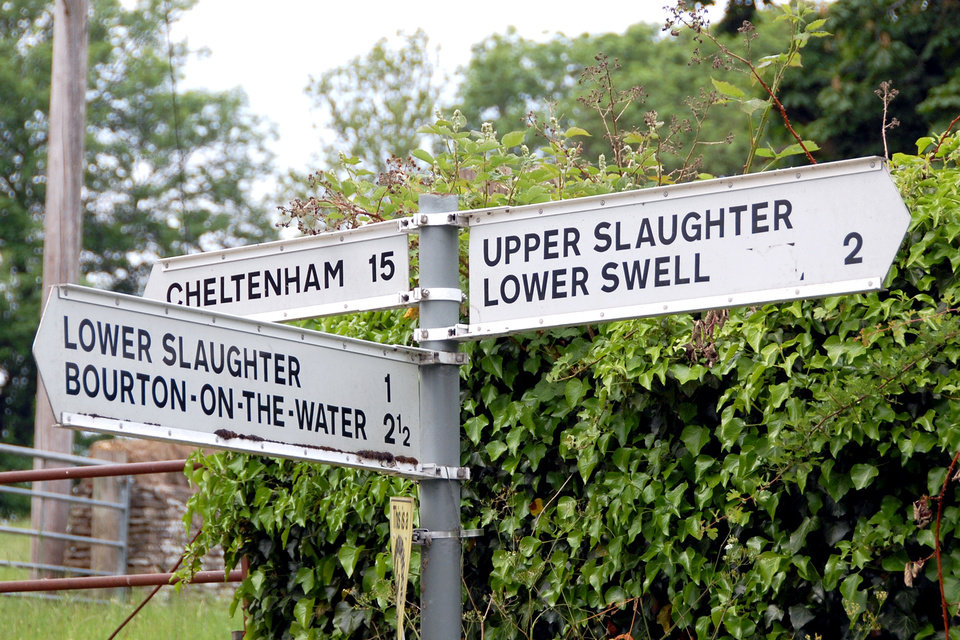 Photo - Traveling through Britain is an adventure in accents, idioms, and odd place names — such as Upper and Lower Slaughter. (Photo by Cameron Hewitt)