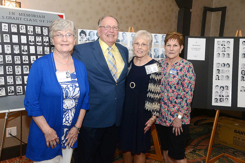 Photo - Sue Cole, Larry Warner, Judy Warner, Darlyne Franks. Photo by David Faytinger, for The Oklahoman