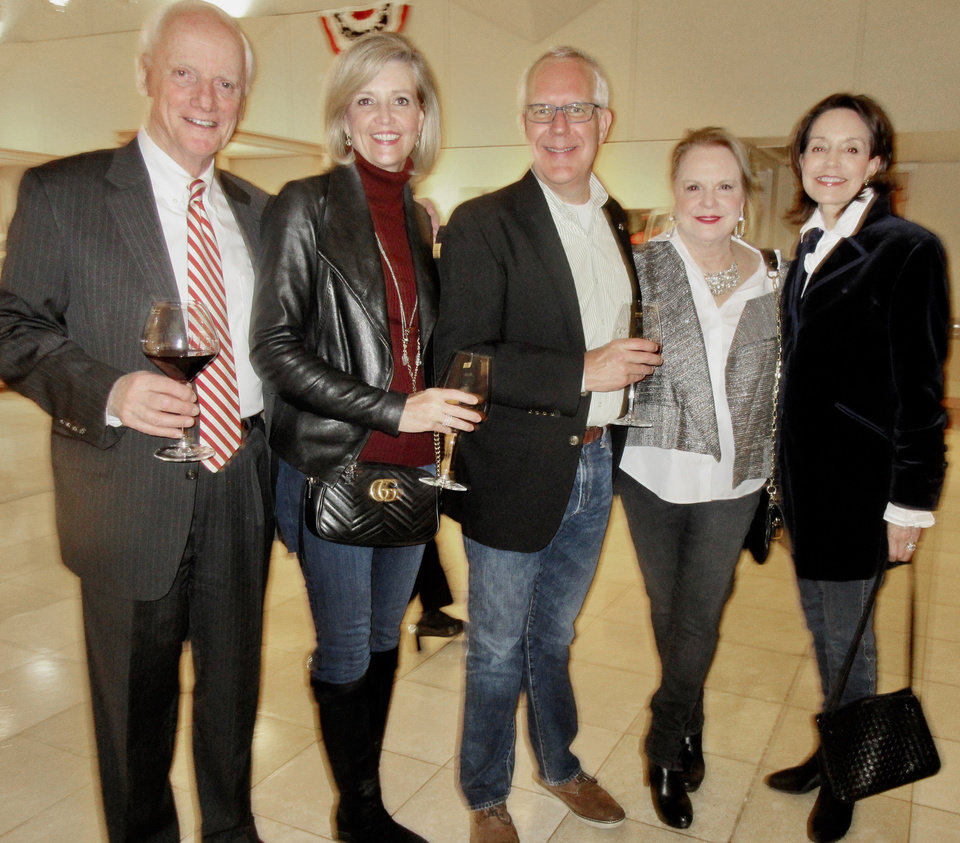 Photo - Frank Keating, Kim and Brad Henry, Chris Purcell, Cathy Keating. PHOTO BY HELEN FORD WALLACE, THE OKLAHOMAN