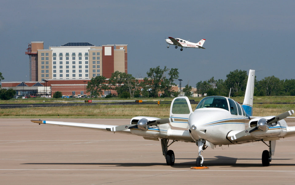 View from the airport on Embassy Suites Hotel construction in Norman, Oklahoma on, July 16, 2008.  BY STEVE SISNEY, THE OKLAHOMAN
