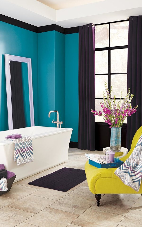 Photo - This image released by Ace Hardware shows a Clark and Kensington wall paint, part of a collaboration with OPI pairing nail lacquer colors with interior paint. (AP Photo/ Ace Hardware)