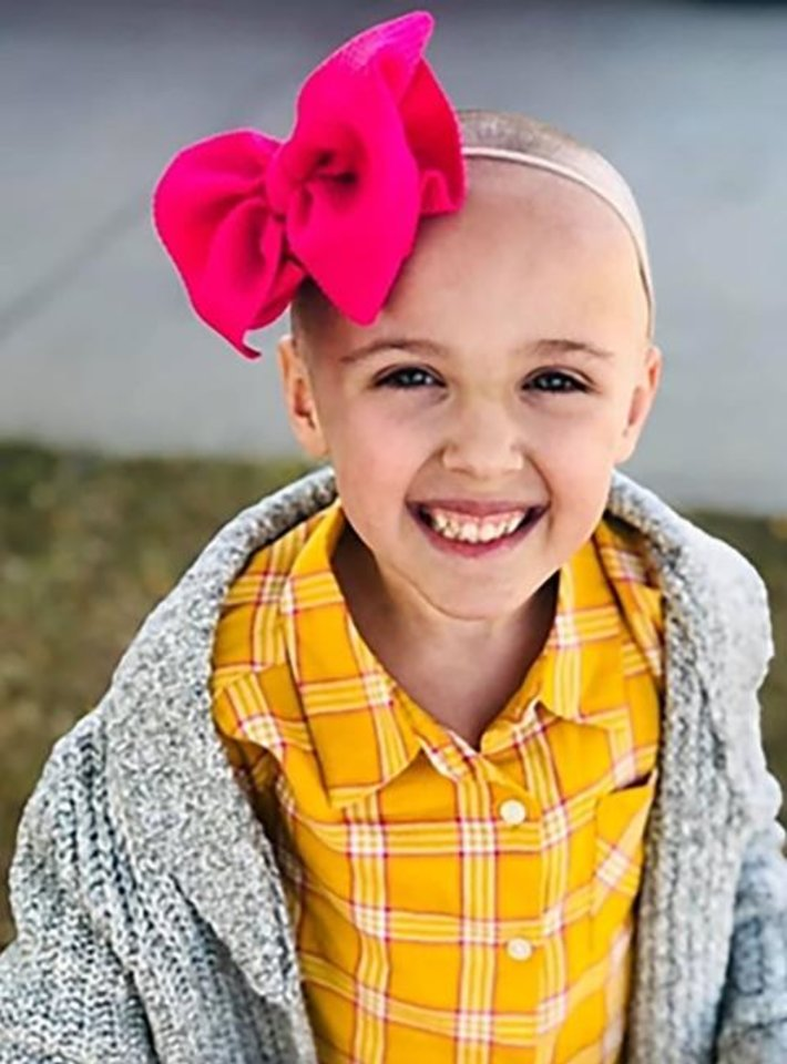 Photo -  Ady Isom, a Mustang Trails Elementary School kindergartener, was diagnosed with stage four neuroblastoma in early October. Some of the funds raised during Mustang High School's Beast Week will benefit Ady and her family. [PHOTO PROVIDED]