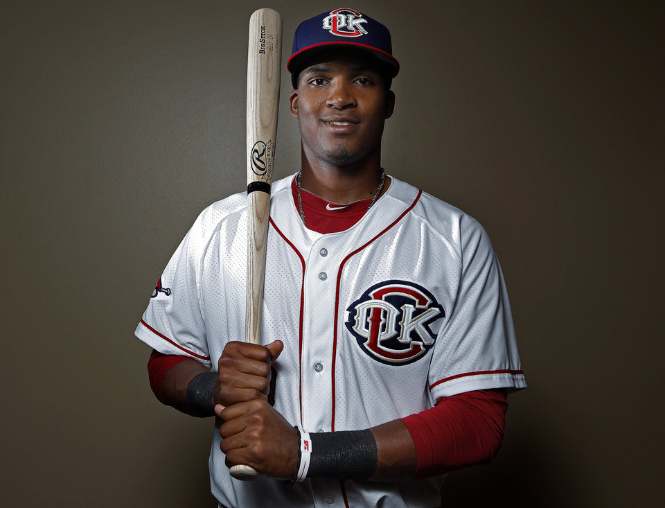 MINOR LEAGUE BASEBALL: Oklahoma City's Jimmy Paredes poses for a photograph during media day for the Oklahoma City RedHawks in Oklahoma City, Tuesday, April 3, 2012. Photo by Sarah Phipps, The Oklahoman
