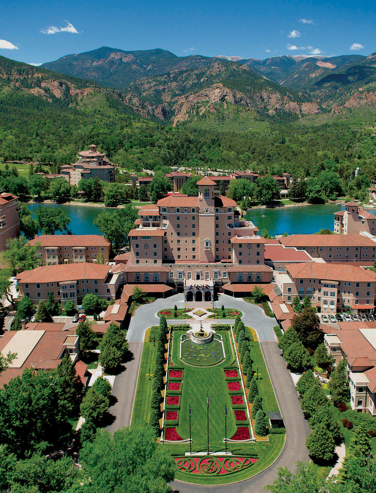 Photo -  Above:  A view of The Broadmoor from above.