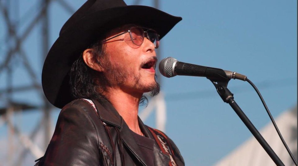 Photo -  Japanese country music star Charlie Nagatani sings at the International Country Gold music festival in Japan. Photo provided      -