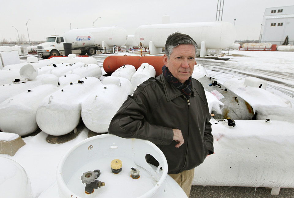 Herb Hampton, owner of American Propane at 1509 Exchange Avenue in Oklahoma City, OK, Friday, February 7, 2014. Rising propane costs are angering some customers who rely on the gas to heat their homes.  Photo by Paul Hellstern, The Oklahoman