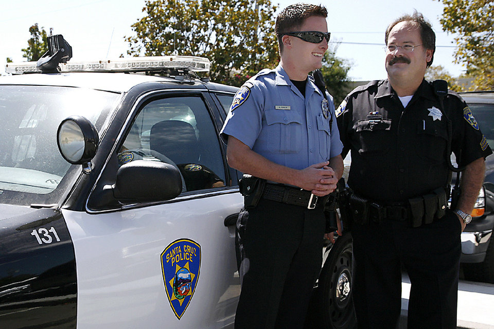 In this September 2010 photo, Santa Cruz police Sgt. Loran