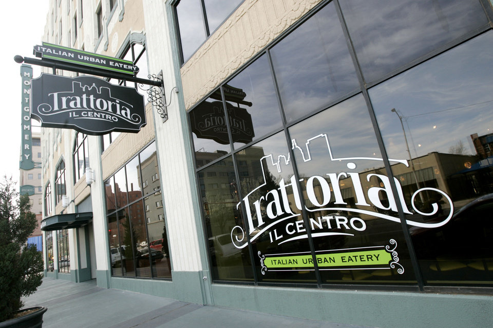 Photo - Trattoria il Centro closes its doors in the Montgomery Building on Saturday.  Steve Gooch - The Oklahoman
