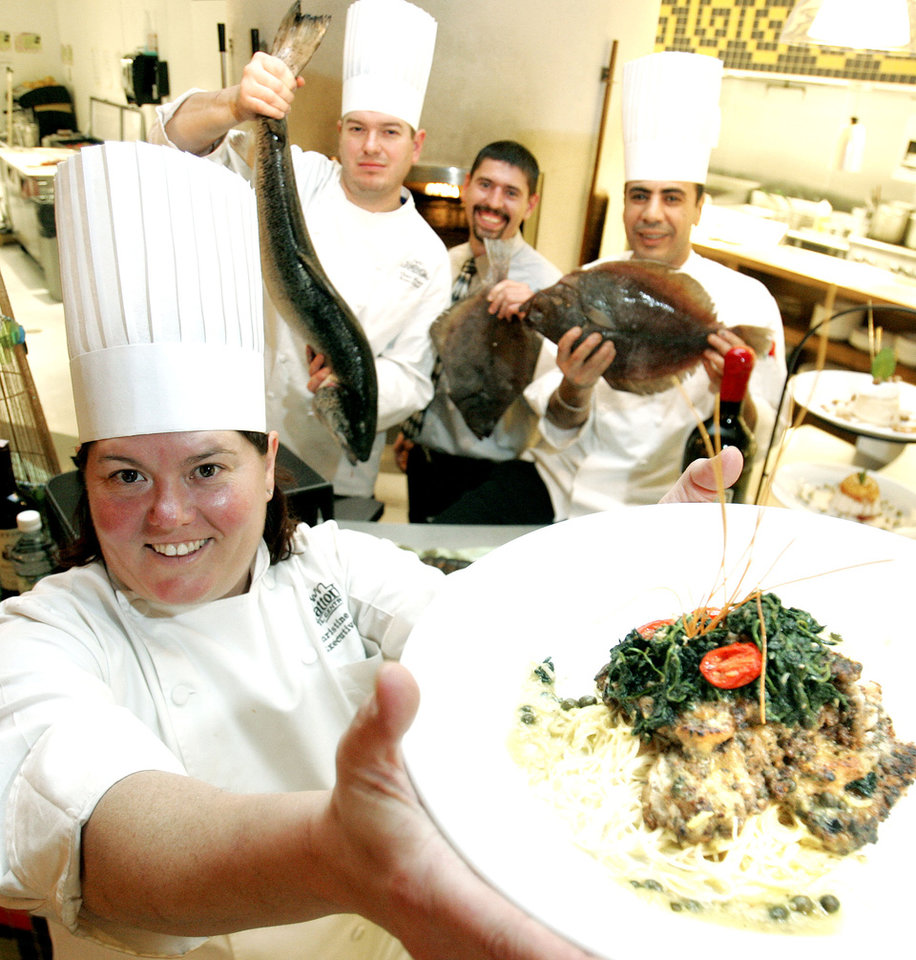 Photo - Executive Chef Christine Dowd at Trattoria il Centro circa 2006. [The Oklahoman Archives]