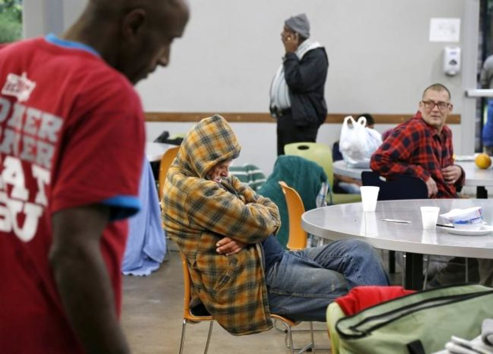 Photo -  The Homeless Alliance day shelter, shown in this 2018 photo, was opened up for emergency overnight shelter as a reduced bed count prompted by COVID-19 and this week's ice storm and power outages combined to leave those without shelters outside in life threatening conditions. [OKLAHOMAN ARCHIVES]