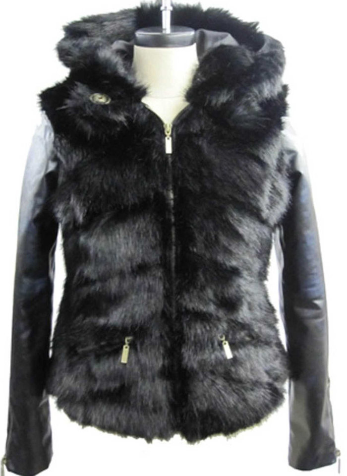 Green With Envy will have others looking at you similarly when you\'re wearing the brand\'s faux fur hooded jacket (pictured here) or vest, $150 each; at Macy\'s stores and macys.com. (MCT)