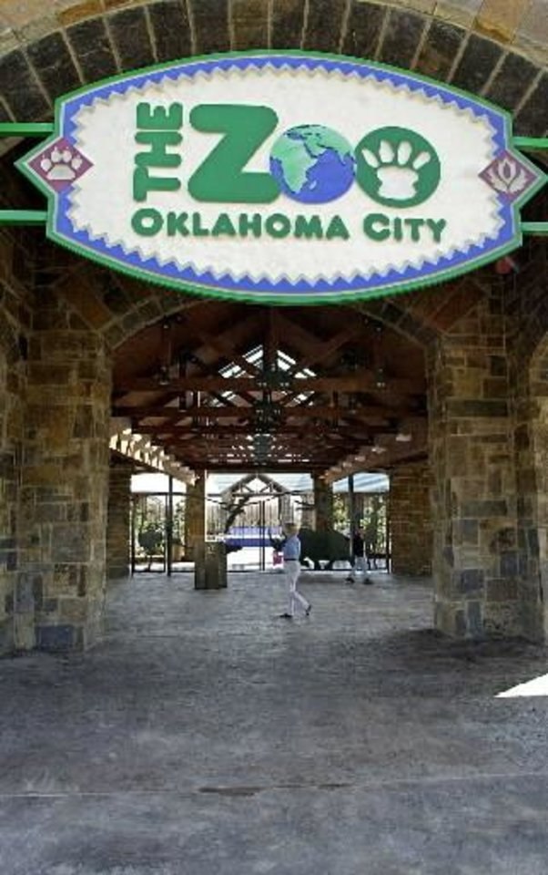 Photo - The entrance to the Oklahoma City Zoo is seen in this file photo.