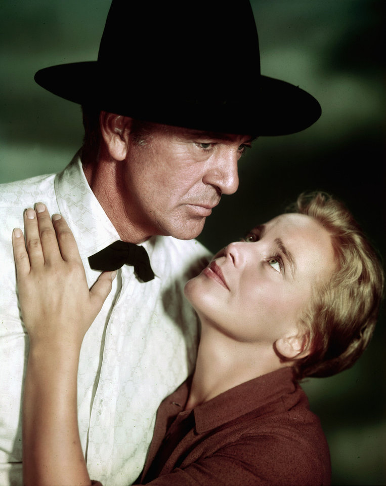 "Gary Cooper and Maria Schell in a scene from ""The Hanging Tree."" PHOTO PROVIDED <strong></strong>"