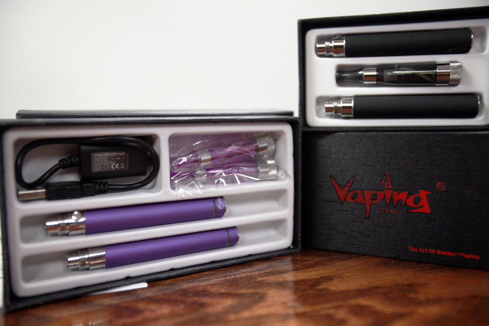 The electronic cigarette business is booming in the OKC metro area with stores popping up everywhere. These products can be found at OKC Vapes on 3710 NW 50th St. Photo by Aliki Dyer,  The Oklahoman
