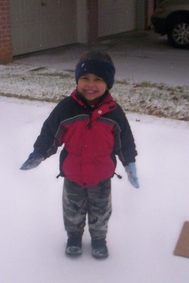 Brayden lovin' the snow!<br/><b>Community Photo By:</b> Leah Albright<br/><b>Submitted By:</b> Leah, Midwest City