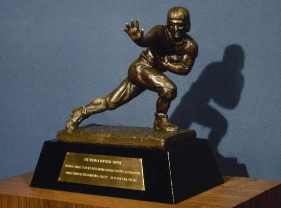 Photo - The  Heisman Trophy is shown in this 1978 photo file photo - AP Photo