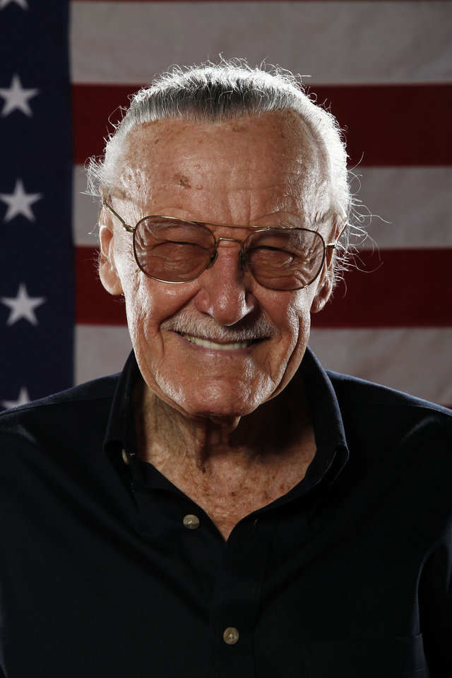 Photo - Stan Lee poses for a portrait at the LMT Music Lodge during Comic Con in San Diego, Thursday, July 21, 2011. (AP Photo/Matt Sayles)