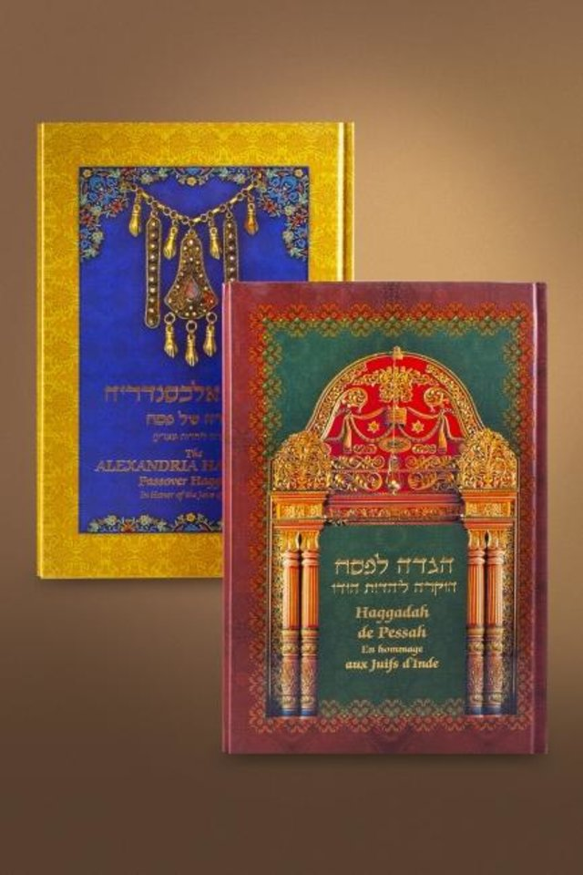 Photo -  Haggadah reference books are part of the Sofer Collection of Jewish history, writings and culture being permanently housed at the Beam Library at Oklahoma Christian University in Oklahoma City.  [Image provided]