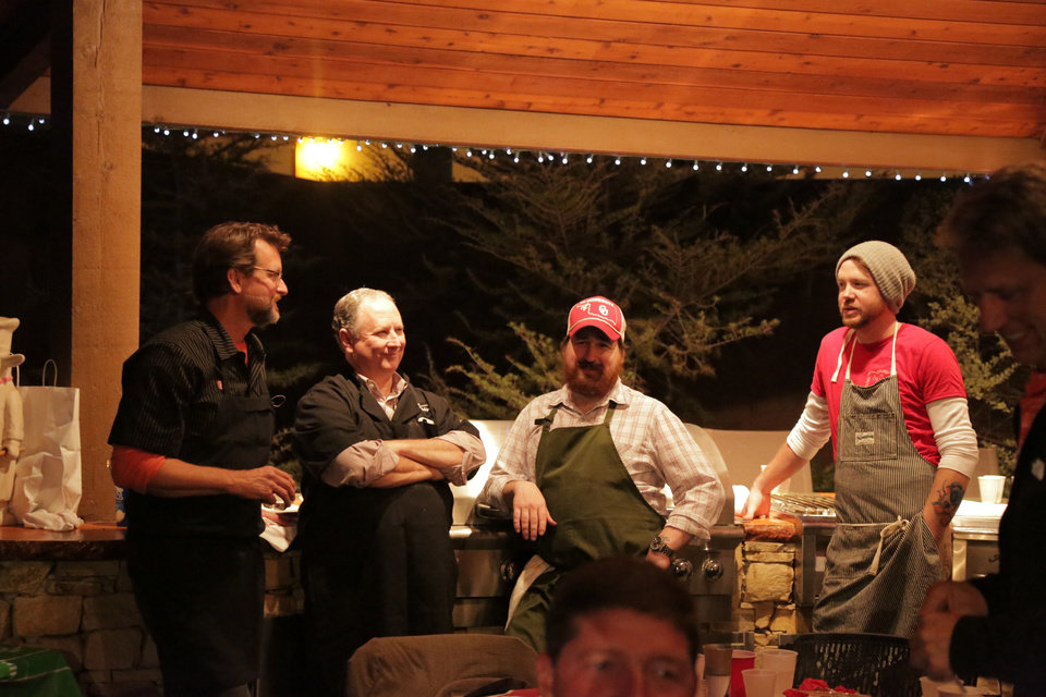 From left, Kurt Fleischfresser of The Coach House, David Egan of Cattlemen?s Steakhouse, Joshua Valentine of The George Prime Steakhouse, and Jonathon Stranger of Ludivine. PHOTO BY KYLE ROBERTS, THE OKLAHOMAN <strong></strong>