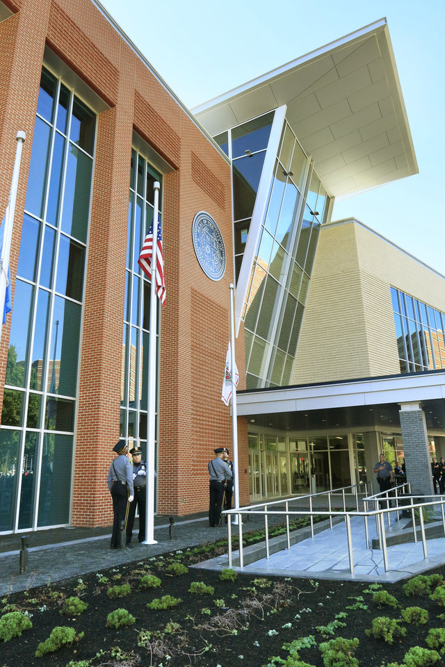 Photo -  The Oklahoma City Police Department's new downtown headquarters building. [Photo by Paul Hellstern, The Oklahoman]