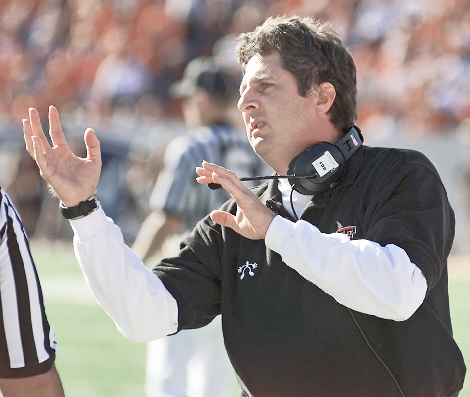 Photo - Mike Leach has made a big name for himself at Texas Tech, and made a profound impact on college football. OKLAHOMAN ARCHIVE