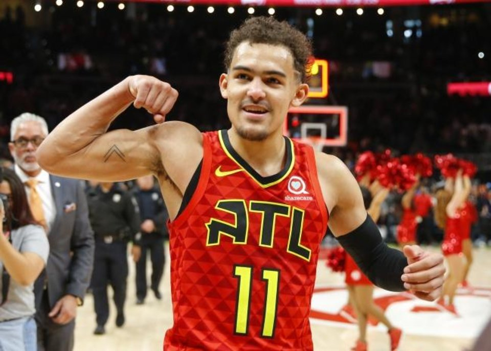 Photo -  Former Norman North and OU star Trae Young averaged 19.1 points and 8.1 assists as a rookie for an Atlanta Hawks team that appears poised to rise. [AP Photo/Todd Kirkland]