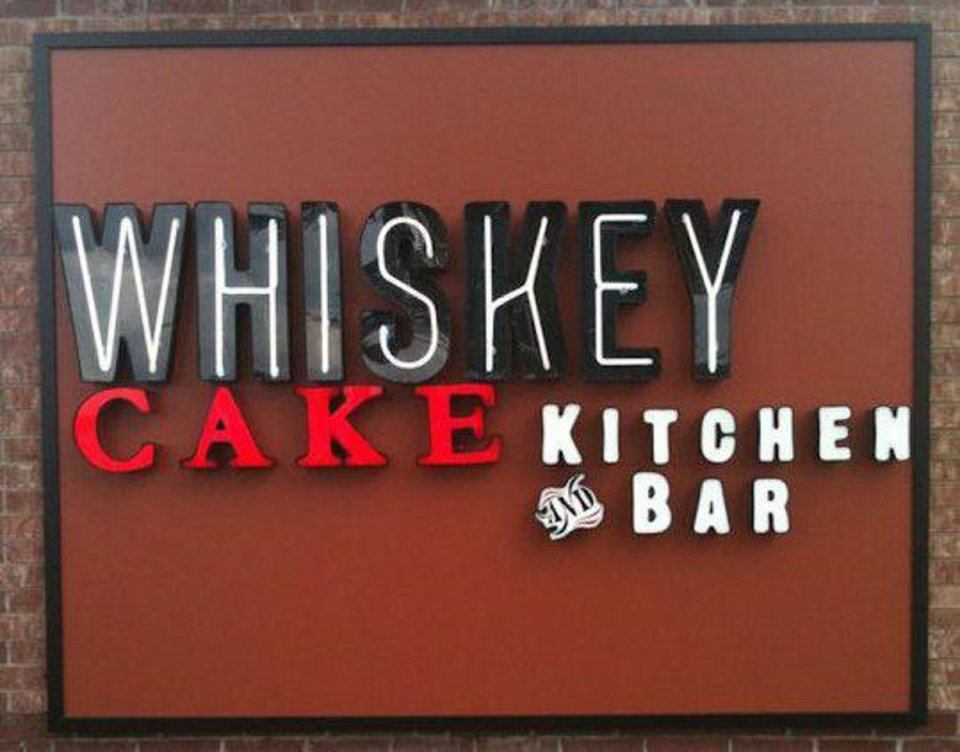 A sign for Whiskey Cake restaurant in Plano. <strong> - PROVIDED</strong>
