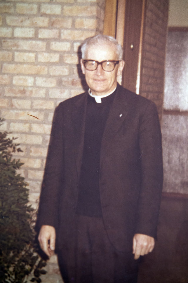 Photo - This undated photo released by the San Patricio church, shows Father Alfredo Leaden in Buenos Aires, Argentina. In what became known as the San Patricio Massacre, gunmen believed to be from a military unit stormed into the church after midnight on July 4, 1976, and shot to death three priests including Leaden and two seminarians - the bloodiest single act of violence against the Roman Catholic Church during Argentina's brutal dictatorship. Now Catholic officials in Argentina are working to have them declared saints. And the man who promoted their cause as archbishop has become Pope Francis. (AP Photo/San Patricio Church)