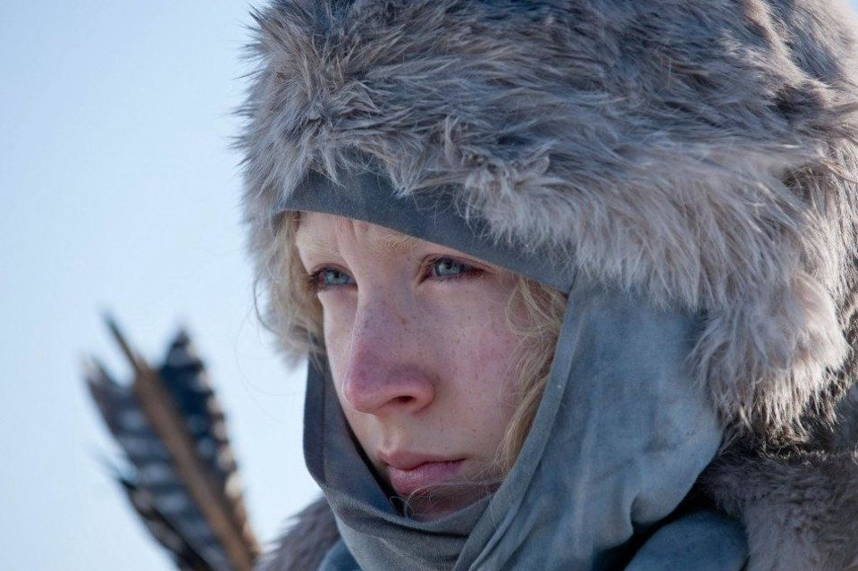 "In this film publicity image released by Focus Features, Saoirse Ronan is shown in a scene from ""Hanna."" <strong></strong>"