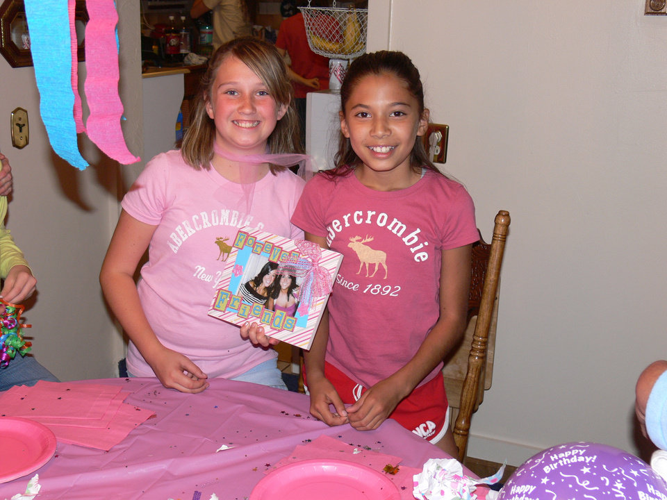 Kaitlin and Taylor.  Best friends.Kaitlin's  family birthday party.10/13/06<br/><b>Community Photo By:</b> Jeff Graybill<br/><b>Submitted By:</b> Jeff, Midwest city