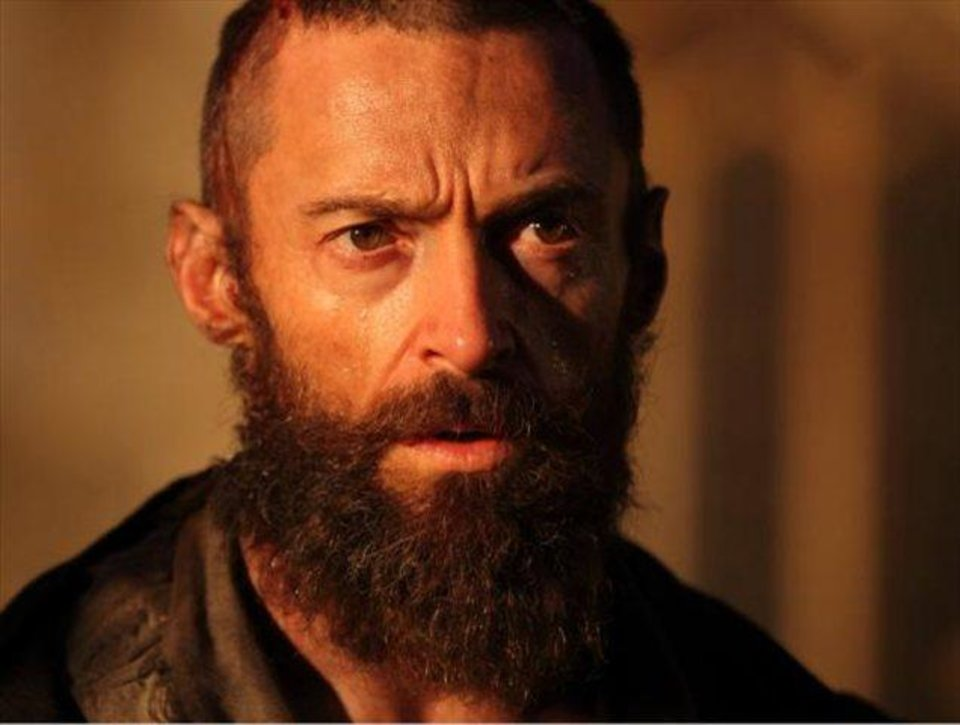 "Hugh Jackman as Jean Valjean in ""Les Miserables.""  Universal Pictures. <strong></strong>"