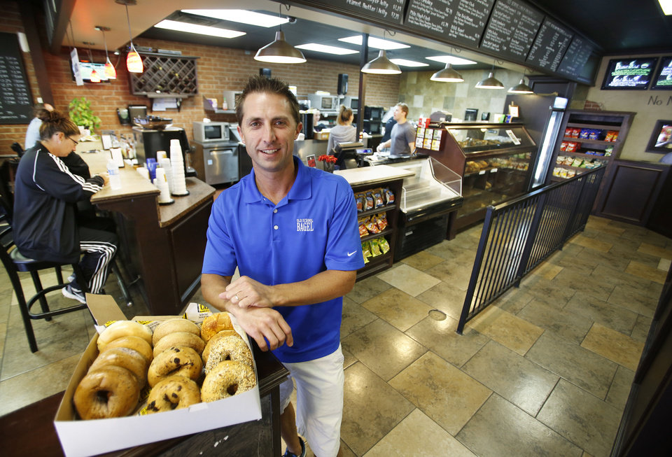 Wayne Hansen, co-owner of Old School Bagel Cafe at May and Hefner, saved his family $400 a month by rolling off his wife�s employer-sponsored health insurance and turning to doctors in a new Oklahoma fee-for-service startup for his primary medical needs.  Photo by Steve Gooch, The Oklahoman