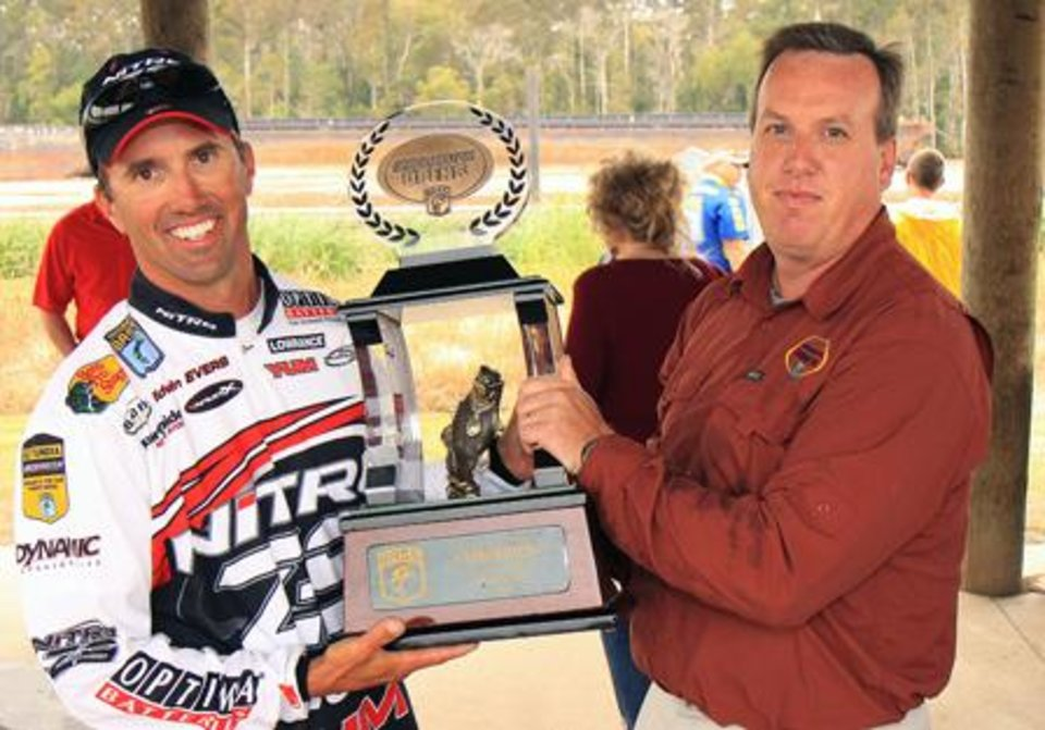 Photo -  Edwin Evers of Talala won the Bassmaster Central Open on Sunday