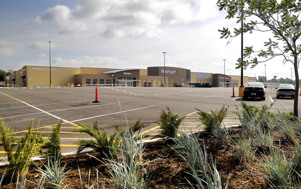 Photo -  Choctaw's first Walmart is scheduled to open in mid-July. Photo by Jim Beckel, The Oklahoman   Jim Beckel -