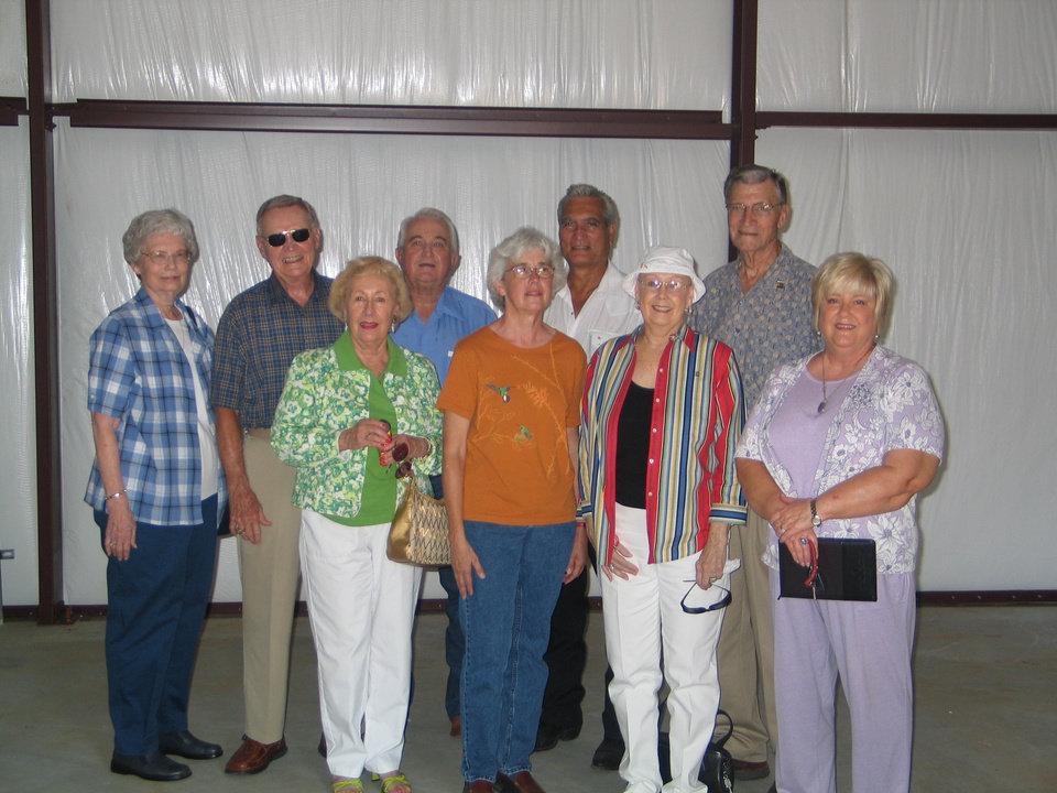Executive Committee of Harrah Historical Society with the Bill and Joanne Harrah.  Ruth Shaw, Secretary; Bill Harrah, Joanne Harrah; Don Erbin, Treasurer; Linda Parrish, Vice President; Hans Willemse, Board Member and Museum Project Team Chairman; Jeanne Ann Weller, President; Alvin Thompson, Board Member; Karen Erbin, Editor.<br/><b>Community Photo By:</b> Karen Erbin, Editor<br/><b>Submitted By:</b> Karen, Harrah