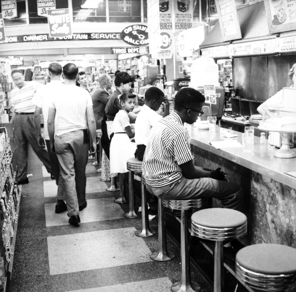 Photo - Aug. 26, 1958 at the Katz Drug Store this sit-in was led by the NAACP Youth Council. Photo provided.