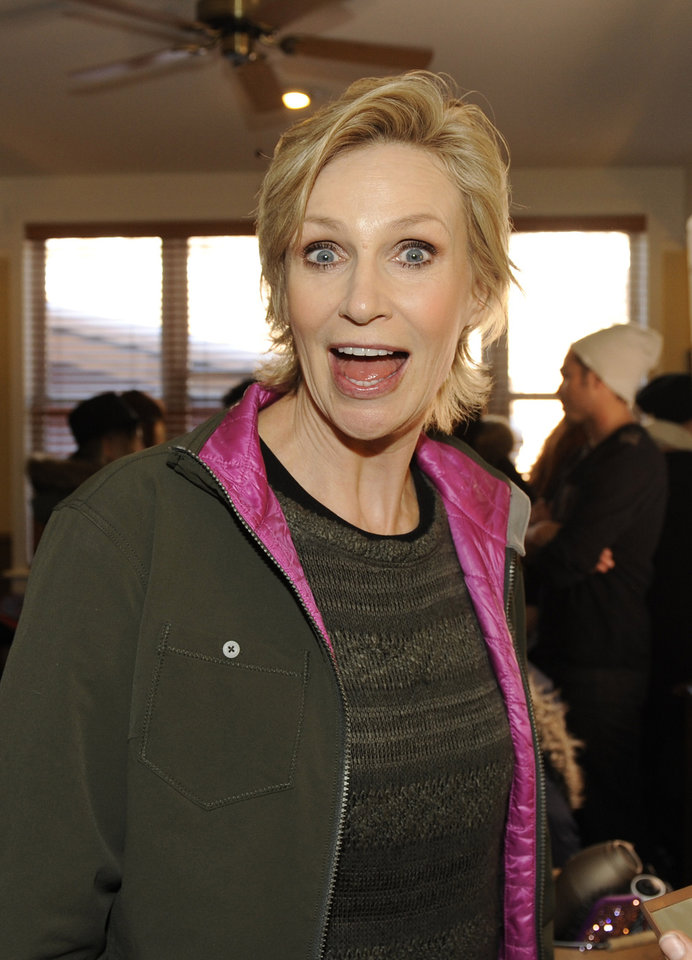 Photo - IMAGE DISTRIBUTED FOR FENDER - Actress Jane Lynch is seen at the Fender Music lodge during the Sundance Film Festival on Monday, Jan. 21, 2013, in Park City, Utah. (Photo by Jack Dempsey/Invision for Fender/AP Images)