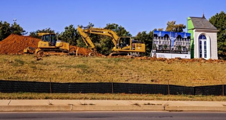 Photo -  6100 Grand will consist of 14 luxuary townhouses, Construction is starting on the first phase that will consist of five homes, three of which are pre-sold. [CHRIS LANDSBERGER/THE OKLAHOMAN]