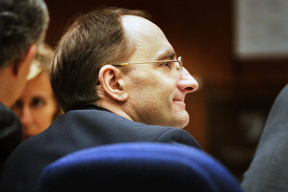 Photo - Christian Karl Gerhartsreiter listens  in court  at Clara Shortridge Foltz Criminal Justice Center in Los Angeles Tuesday,  April 2, 2013. Gerhartsreiter has pleaded not guilty to the killing of John Sohus, 27, who disappeared with his wife, Linda, in 1985.  (AP Photo/San Gabriel Valley Tribune,Walter Mancini ) MAGS OUT; NO SALES; MANDATORY CREDIT