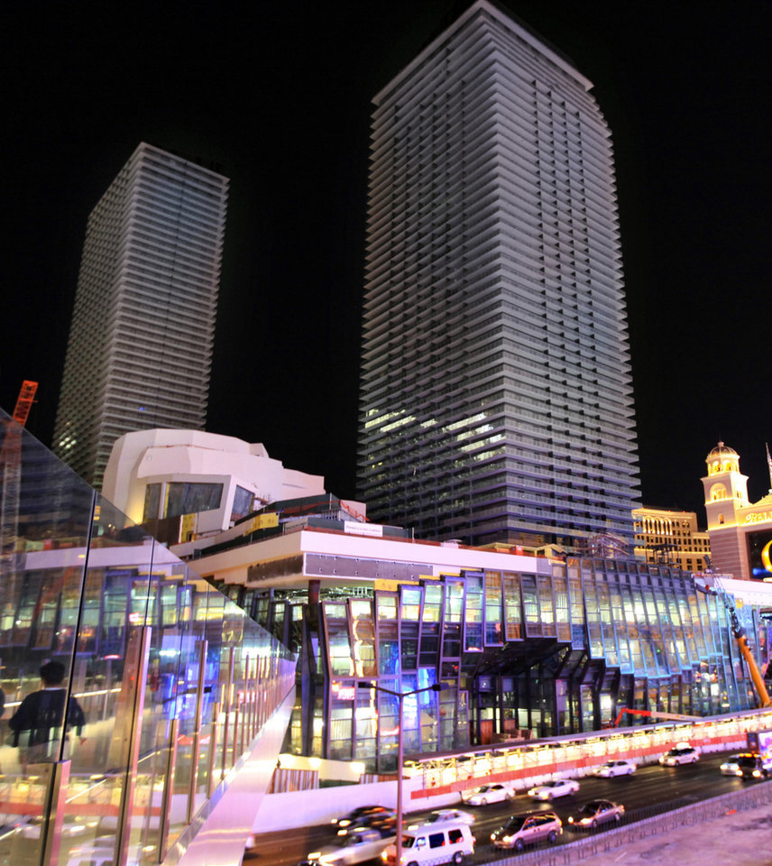 FILE - This April 6, 2010 image provided by The Cosmopolitan of Las Vegas shows the Cosmopolitan hotel and casino in Las Vegas. Deutsche Bank AG is finally free of The Cosmopolitan of Las Vegas resort and casino after selling the high-rise complex on the Strip to Blackstone Real Estate Partners VII for $1.7 billion, according to a statement Thursday May 15, 2014.  (AP Photo/Cosmopolitan Las Vegas, File)