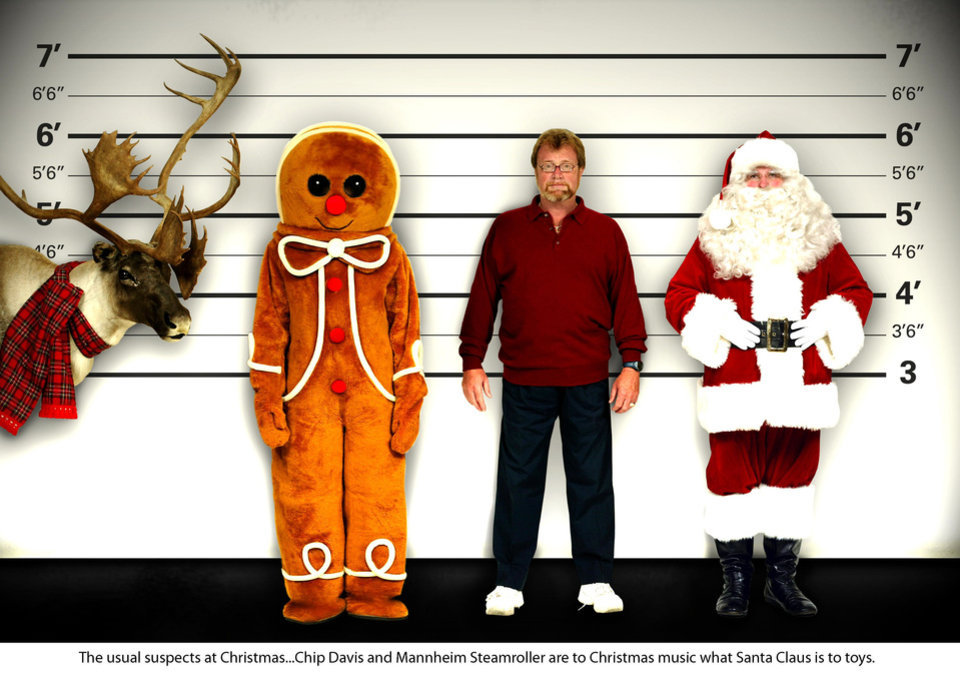 Chip Davis, founder of Mannheim Steamroller, third from left, poses with the usual suspects. Photo provided