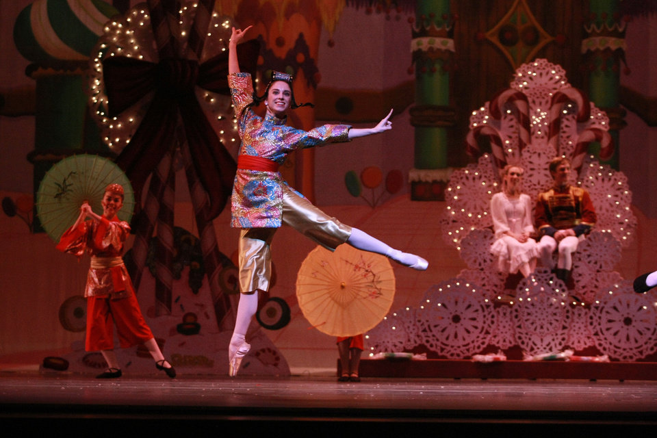 Photo - Oklahoma City Ballet's Ellany Abbott appears in costume as one of the Chinese dancers in